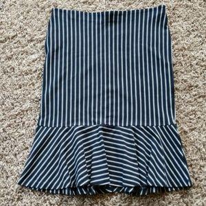 [Ann Taylor] NWT Fit & Flair Stripe Skirt